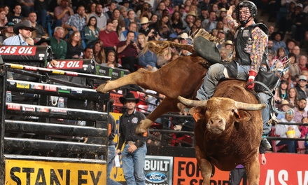Professional Bull Riders on Friday, October 18, at 7:45 p.m. or Saturday, October 19, at 6:45 p.m.