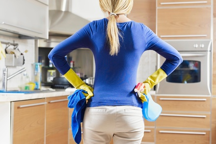 Four Hours of Home Organization and Cleaning Services from Clean Cleanup (45% Off)