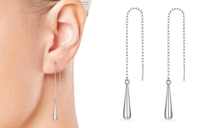 Philip Jones Sterling Silver Teardrop Earrings