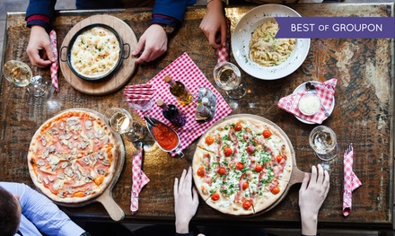 Italienisches 2-Gänge-Menü mit Pizza oder Pasta inkl. Wein für 2 oder 4 Personen bei Pasta Maria (bis zu 53% sparen*)
