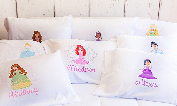 2, 3, 5, or 10 Personalized Princess Pillowcases from Qualtry (Up to 87% Off)