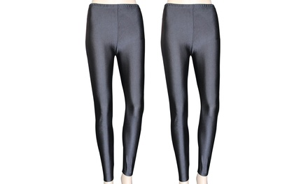 Ladies Pack of Two Metallic Tights Including Delivery