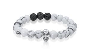 Bracelet tête de mort pour hommes