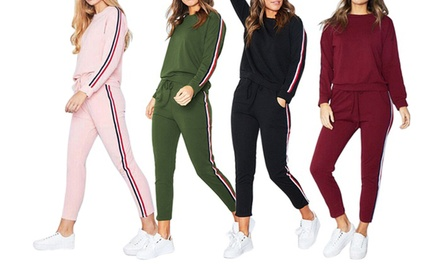 Ensemble sweat et pantalon trendy deux bandes Romy