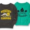 Women's Slouchy Camping Sweatshirts