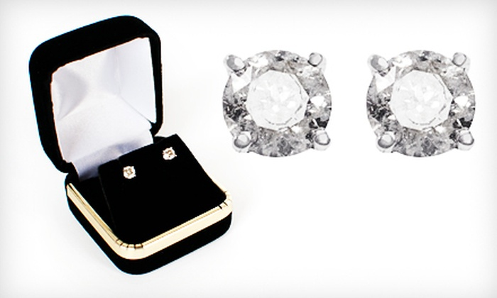 Diamond Stud Earrings: $189 for Onna Ehrlich Diamond Stud Earrings in 14-Karat White Gold ($829 Value). Shipping Included.