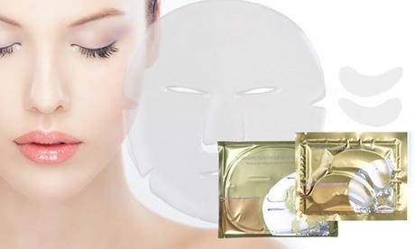 Máscaras faciales u oculares de colágeno y ácido hialurónico Oferta en Groupon