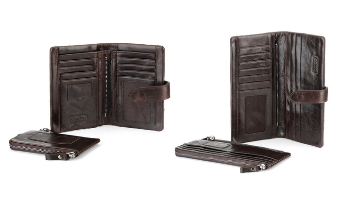 Groupon Goods: Men's Cowhide Leather Wallet (Shipping Included)