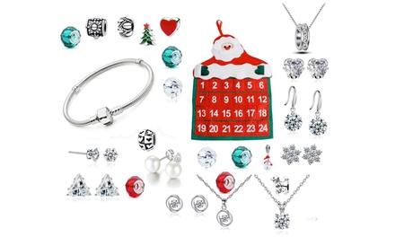 Calendario Avvento Swarovski.Calendario Dell Avvento Con 24 Gioielli Con Cristalli Swarovski E Bracciale A Tema Natalizio