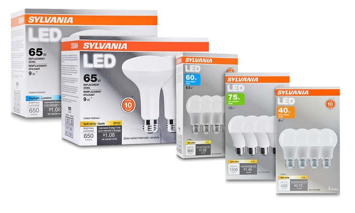 osram sylvania 10 year life led light bulbs groupon