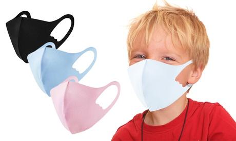 1x, 2x oder 3x wiederverwendbare Gesichtsmaske für Kinder in der Farbe nach Wahl