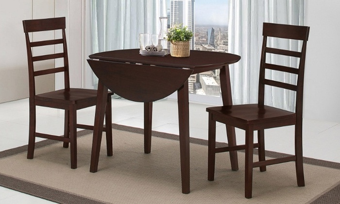 Harrison dining table and chair set groupon for Dining table set deals