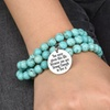 Multi-Wrap Turquoise Inspirational Bracelet/Necklace by Pink Box