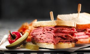 Rock N Deli Head Office: Bon d'achat sur les assiettes de viande fumée, burger, sandwich et plus au Rock'n Deli (rabais jusqu'à 72 %), 5 succ.
