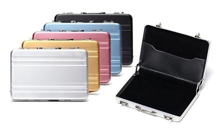 02b9ed78f8d Aluminium kaarthouder in nieuw design en compact, verkrijgbaar in  verschillende kleuren vanaf € 7,