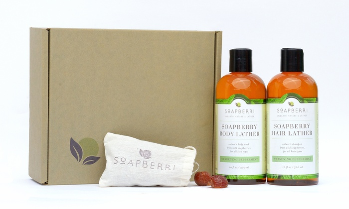 Soapberry Organic Awakening Peppermint Bath Set (2-Piece)