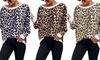 Oversized Leopard Print Top