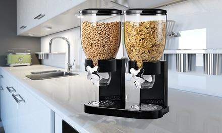 1x oder 2x Müsli  oder Cerealienspender für längere Frische, auch für Nüsse, mit Drehrad zum genauen Portionieren