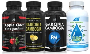 Angry Supplements Apple Cider Vinegar and Garcinia Cambogia (4-Pack)