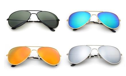 Pack de 2, 3 o 4 gafas de sol de espejo estilo piloto