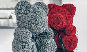 Peluche ourson en roses