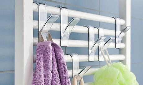 Ganchos para el radiador del baño