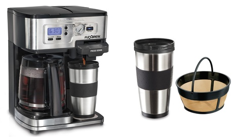 Hamilton Beach 2-Way FlexBrew Coffee Maker with Permanent Coffee Filter and Stainless Steel Travel Mug b644046c-e198-11e6-8b87-00259069d868