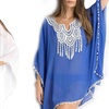Appliqué Chiffon Semisheer Swimsuit Cover-Up