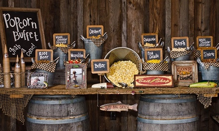 Catered Gourmet Popcorn Buffet for Up to 20 or 50 Guests from Popping Bar (50% Off)