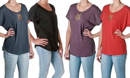 Women's Tri-Blend Dolman Top