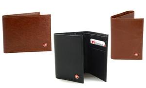 Alpine Swiss Men's RFID-Blocking Trifold or Bifold Wallet