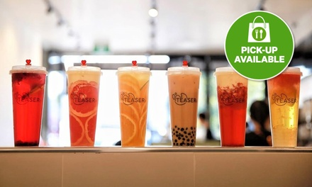 Choice of Milk Tea for 1 ($3.30) or Fruit, Brewed Tea or Smoothie for 2 ($7.98) at Teaser Adelaide