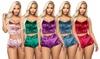 Fluwelen pyjama verkrijgbaar in verschillende kleuren