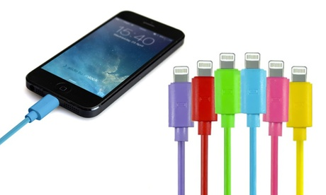 Cable USB Lightning para iPhone de 1 metro disponible en varios colores Oferta en Groupon
