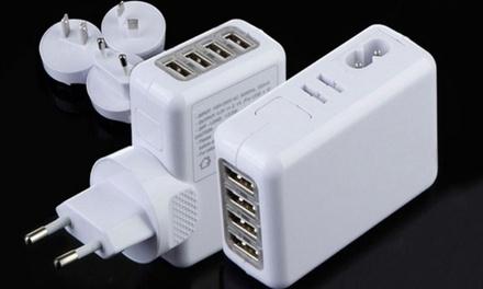1 o 2 cargadores 4 USB con opción a adaptador desde 7,99 € (hasta 75% de descuento)