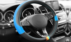 Full Spectrum Two-Sided Genuine Leather Steering Wheel Cover