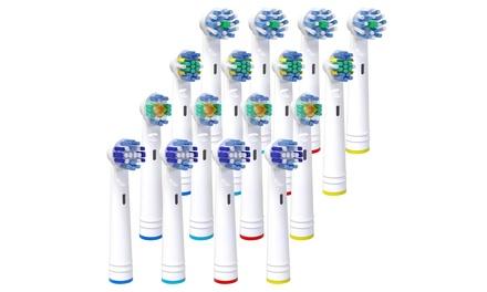 16 compatibele opzetborstels voor OralB elektrische tandenborstels