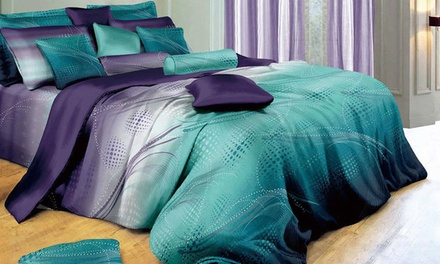 Artistic Printed Quilt Cover Set in Single $39, Queen $49, King $55 or Super King $69 Don't Pay up to $159