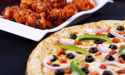 $14 for $20 Worth of Pizza for Carry Out or Two Pizzas and Salad at House of Pizza