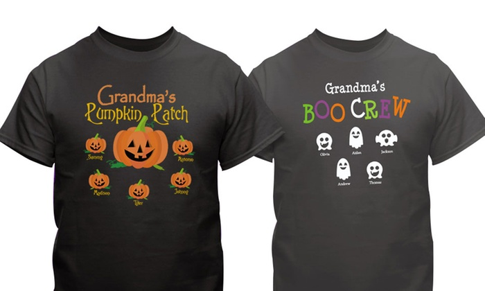 GiftsForYouNow.com: One or Two Personalized Halloween T-Shirts from GiftsForYouNow.com (Up to 52% Off). Four Options Available.