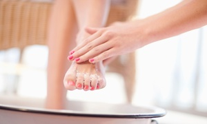 Swissh Nails Hair And Beauty: Manicure ($19), Pedicure ($25), or Both ($45) with Eyebrow Wax ($49) at Swissh Nails Hair and Beauty (Up to $107 Value)