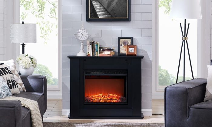Phenomenal Elm Or Poplar Electric Fireplace Groupon Goods Download Free Architecture Designs Ogrambritishbridgeorg