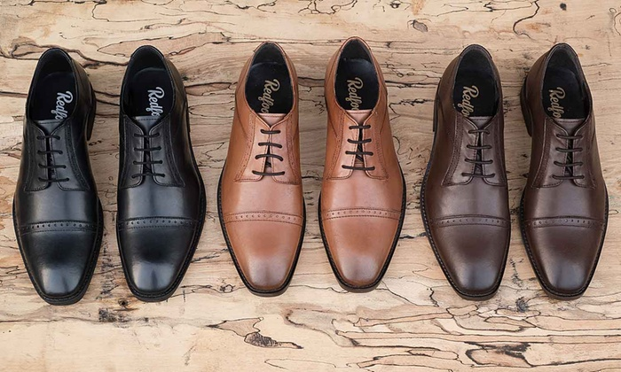 898b1feb85ab2 Redfoot Leather Derby Shoes | Groupon Goods
