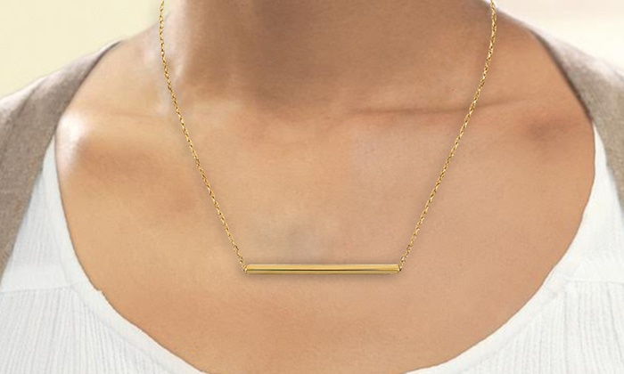 il bar in necklace name hebrew plated listing my birthstone nameplate gold with personalized