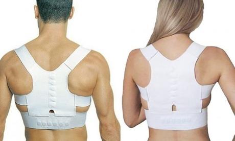 1 o 2 correttori posturali estensibili con magneti e cuciture rinforzate