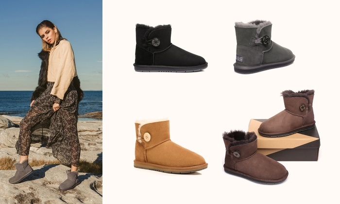 76d8ad524d Mini Button UGG Water-Resistant Boots
