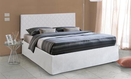 Testata letto, rete a doghe e materasso disponibili in 3 dimensioni e 2 colori