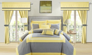 Chic Home Comforter Set with Window Panels (20-Piece)