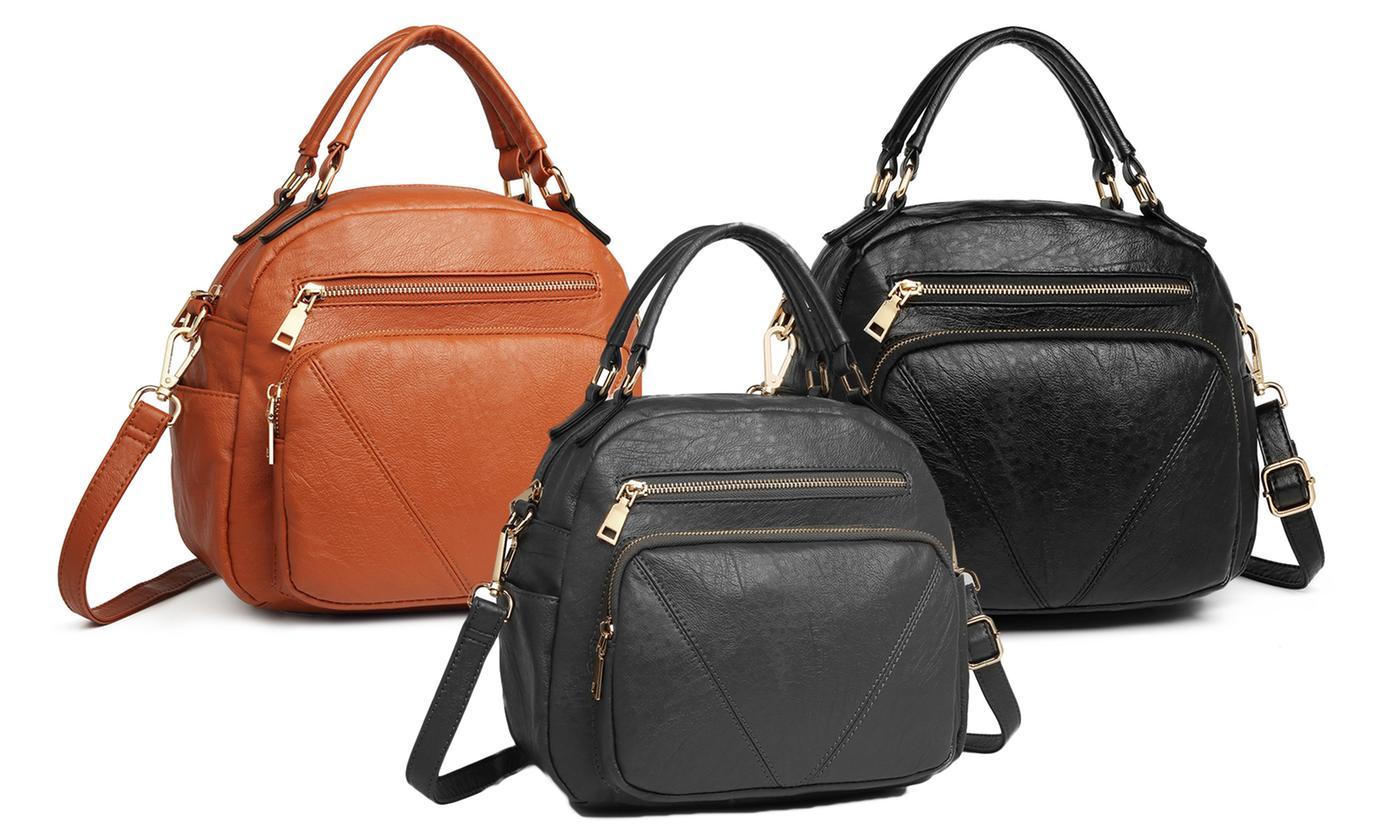 Miss Lulu Bowler-Style Shoulder Bag