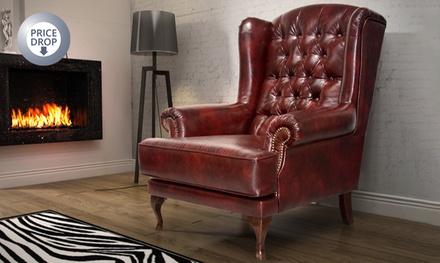 york wingback armchair